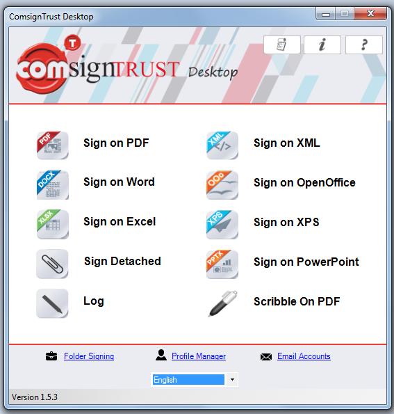 Digital Signing - ComSignTrust Desktop Basic