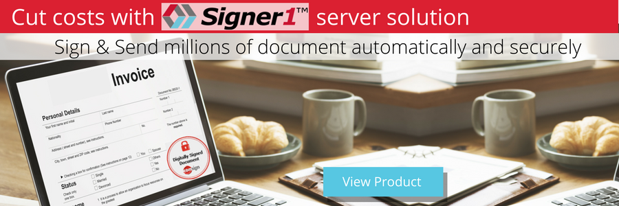 digital signature to sign and send automatically millions of document (digital invoices, reports, etc.)